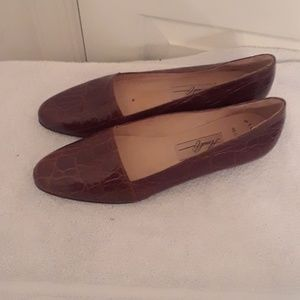 Amalfi vtg loafer flats hector leather sz 8 5